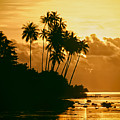 Sunset In Atiha, Moorea, French Polynesia by Hans Schrodter