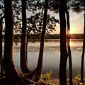 Sunset, Kennebec River, South Gardiner, Maine #8364-8368 by John Bald