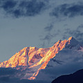 Sunset On Mount Kanchenjugha At Dusk Sikkim by Rudra Narayan Mitra