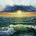 Sunset Over Ocean by Boyan Dimitrov