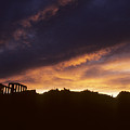 Sunset Over Temple Of Poseidon by Carl Purcell