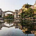 Sunset Over The Famous Mostar Bridge by Didier Marti
