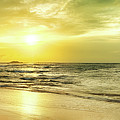 Sunset Over The Sea. Panorama by MotHaiBaPhoto Prints