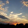Sunset Sky Over Ohio by Maureen Ida Farley