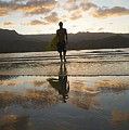Sunset Surfer by Kicka Witte - Printscapes