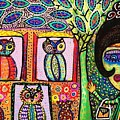 Talavera Owl Tree House by Sandra Silberzweig