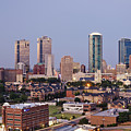 Tall Buildings In Fort Worth At Dusk by Jeremy Woodhouse