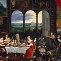 Taste, Hearing And Touch by Jan Brueghel the Elder