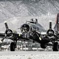 B-17 Bomber Madras Maiden  by Sandra Selle Rodriguez