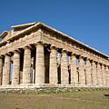 Temple Of Neptune In Paestum by Aivar Mikko