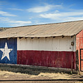Texas State Flag On A Texan Ranch Barn by Mountain Dreams