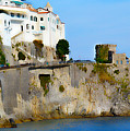 The Beach At Amalfi by Jeffrey Hamilton