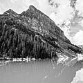 The Beauty Of Lake Louise Bw by Scott Pellegrin