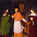The Betrothal Of Raphael And The Niece Of Cardinal Bibbiena by Jean-Auguste-Dominique Ingres