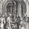 The Betrothal Of The Virgin by Albrecht Durer