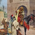 The Carpet Seller by Giulio Rosati