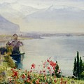 The Castle At Chillon by John William Inchbold