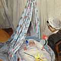 The Cradle - Camille With The Artist's Son Jean by Claude Monet