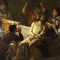 The Crowning With Thorns Of Jesus by Gerard van Honthorst