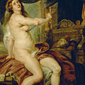 Panthea Stabbing Herself With A Dagger After The Death Of Her Husband Abradates by Peter Paul Rubens