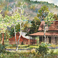 The Delonde Homestead At Caribou Ranch by Anne Gifford