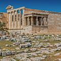 The Erechtheum On The Acropolis, Athens, Greece by Tom Zeman