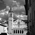 The Facade Of The Duomo With Mosaic And Eight Rose Windows And The Campanile Spoleto Umbria Italy by Michael Walters