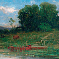 The Farm Landing by Edward Mitchell Bannister