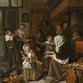 The Feast Of St. Nicholas by Jan Steen