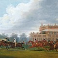 The Finish Of The St. Leger Stakes by Clifton Tomson