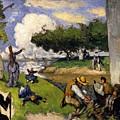 The Fishermen Fantastic Scene by Paul Czanne