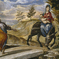 The Flight Into Egypt by El Greco