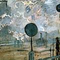 The Gare Saint-lazare by Claude Monet