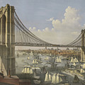 The Great East River Suspension Bridge by Currier and Ives