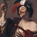 The Happy Violinist by Gerard van Honthorst