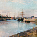 The Harbor At Lorient by Berthe Morisot