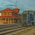 The Historic Santa Fe Railroad Station by Mountain Dreams