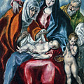 The Holy Family With Saint Anne And The Infant John The Baptist by El Greco