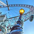 The London Eye And Street Lamp by David Pyatt
