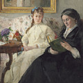 The Mother And Sister Of The Artist by Berthe Morisot