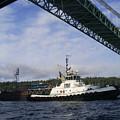 The New Tacoma Narrows Bridge - Foss Tug by Alan Espasandin