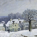 The Place Du Chenil At Marly Le Roi by Alfred Sisley