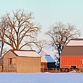 The Red Barn by Bonfire Photography