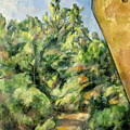 The Red Rock by Paul Cezanne