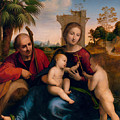The Rest On The Flight Into Egypt With St. John The Baptist by Fra Bartolomeo