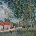 The Road From Moret To Saint-mammes by Alfred Sisley
