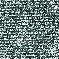 The Rosetta Stone by Egyptian School