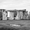 The Slaughter Stone In Front Of View Of Circle Of Sarsen Stones With Lintel Stones Stonehenge Wiltsh by Joe Fox