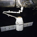 The Spacex Dragon Cargo Craft Prior by Stocktrek Images