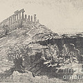 The Temple Of Concord On The Wall, Girgenti by Joseph Pennell